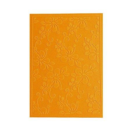 Placa de Textura Emboss 10,6 cm x 15 cm Flor Grande