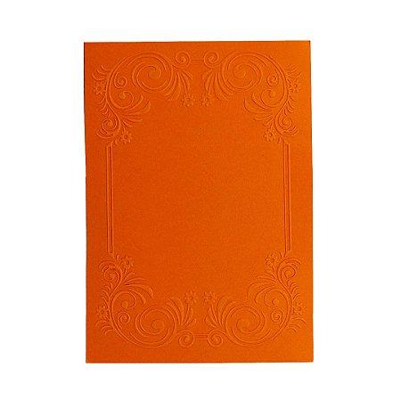 Placa de Textura Emboss 10,6 cm x 15 cm Convite Arabesco