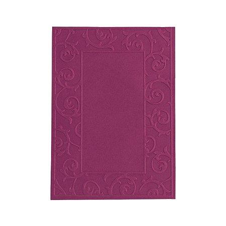 Placa de Textura Emboss 10,6 cm x 15 cm Moldura com Arabesco
