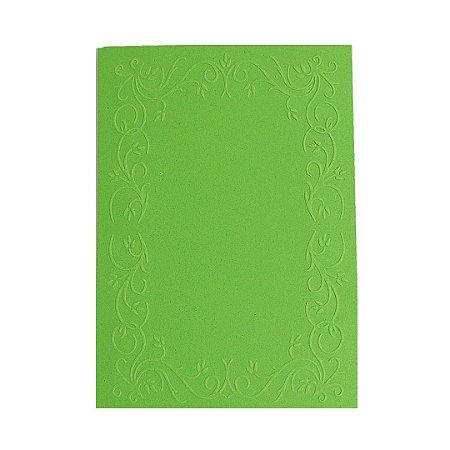 Placa de Textura Emboss 10,6 cm x 15 cm Moldura Quadrada