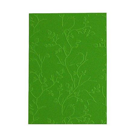 Placa de Textura Emboss 10,6 cm x 15 cm Passarinhos