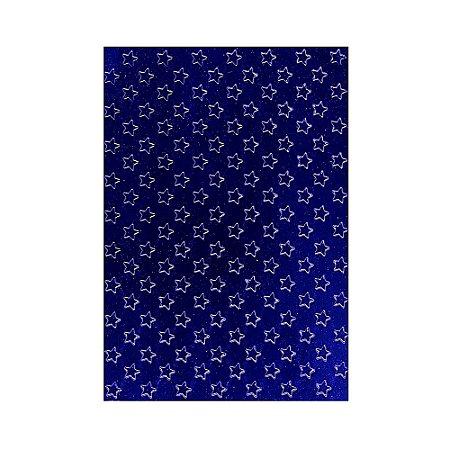 Placa de Textura Emboss 10,6 cm x 15 cm Estrelinhas
