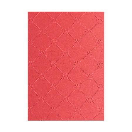 Placa de Textura Emboss 10,6 cm x 15 cm Patinha de Cachorro