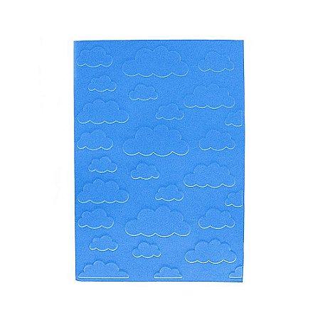 Placa de Textura Emboss 10,6 cm x 15 cm Nuvem