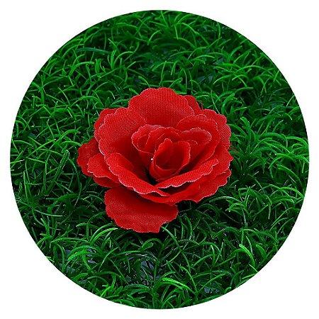 Botão Rosa Vermelha 7cm Sem Haste 100 Unidades Maison Du Atelier