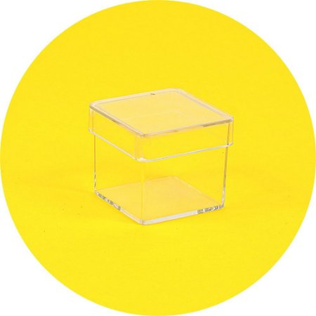 Caixinha em acrílico 3 x 3 cristal - 20 Unidades