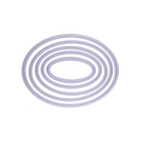 Faca de Corte Círculo Oval 5 Peças