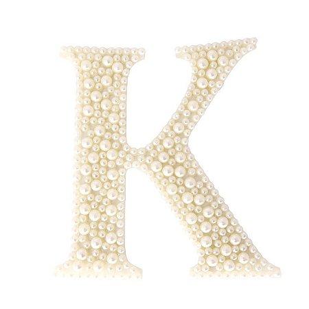 Aplique Letra K Grande Pipoca com Pérola