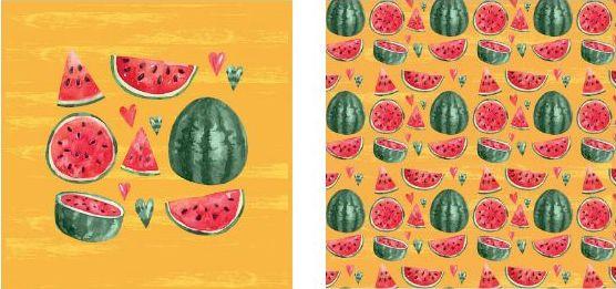 Papel Para Scrapbook Desenhos 30 5x30 5 Art0017 Melancia Maison
