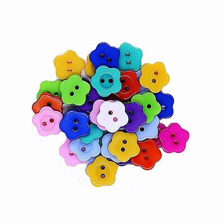 30 Unidades Botões Decorados para Artesanato Flor