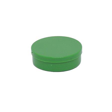Latinha em plástico redonda Verde Escuro 24 unidades