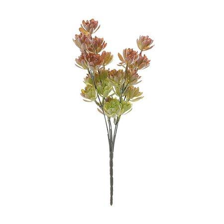 Mini Buquê de Suculenta com 5 Galhos 31 cm