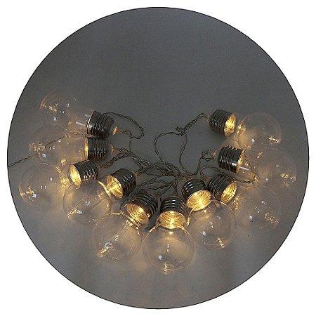 Led com Lâmpada em Acrilico 2mts Luz de Fada Amarela
