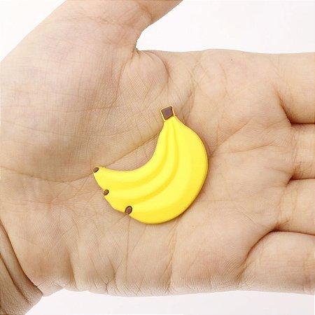 Apliques de Frutas em Silicone Banana 10 Unidades