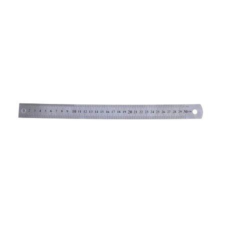 Régua em Alumínio para Artesanato em Geral 30cm