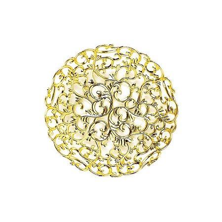 10 Unidades Pratinho de Plástico Decorativo Arabesco Dourado