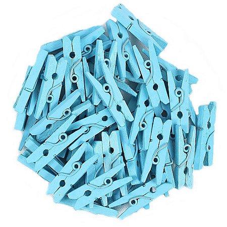 50 Unidades Mini Pregadores Azul Claro 2,5 cm