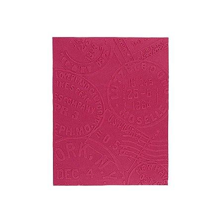 Placa de Textura Emboss 10,6 cm x 15 cm Carimbos Viagem