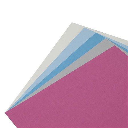 Coleção Papel Cardstock Scrap Color Inverno 10 Folhas