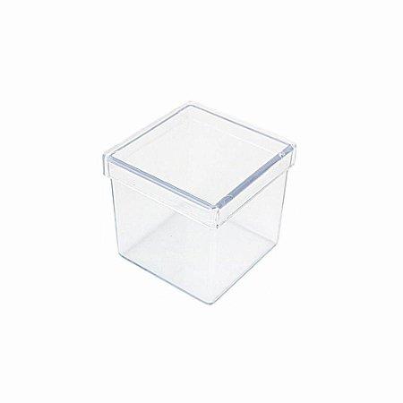 10 Unid. Caixa em Acrílico 4 cm x 4 cm Cristal Transparente