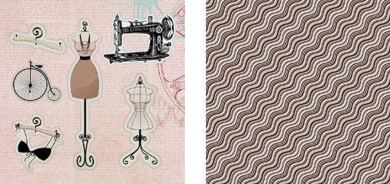 Papel para Scrapbook Desenhos 30,5x30,5 Art0011 Handmade