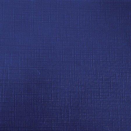 Papel para Scrapbook Plast Linho 30,5x30,5 Art0110 Azul Royal