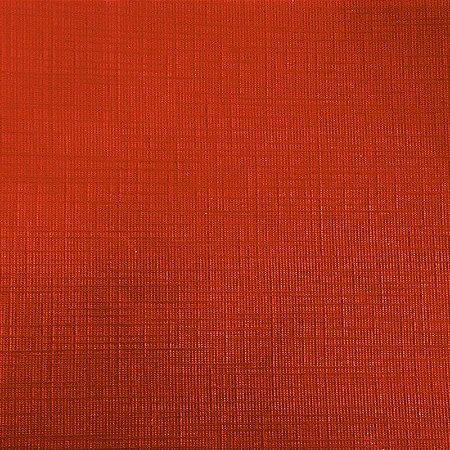 Papel para Scrapbook Plast Linho 30,5x30,5 Art0112 Vermelho Capri