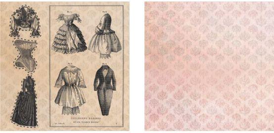 Papel para Scrapbook Desenhos 30,5x30,5 Art0185 Children Dresses