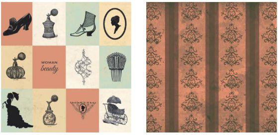 Papel para Scrapbook Desenhos 30,5x30,5 Art0186 Woman Beauty