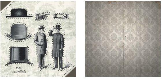 Papel para Scrapbook Desenhos 30,5x30,5 Art0189 Man Essentials