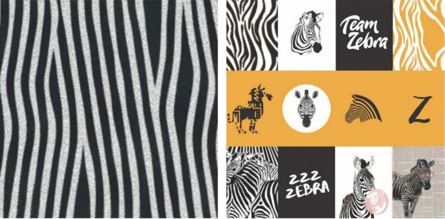 Papel para Scrapbook Desenhos 30,5x30,5 Art0173 Zebra