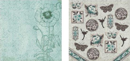Papel para Scrapbook Desenhos 30,5x30,5 Art0179 Ornaments