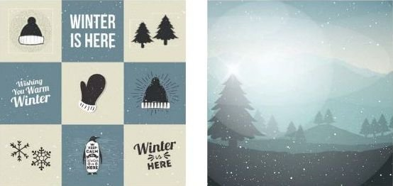 Papel para Scrapbook Desenhos 30,5x30,5 Art0167 Winter Day
