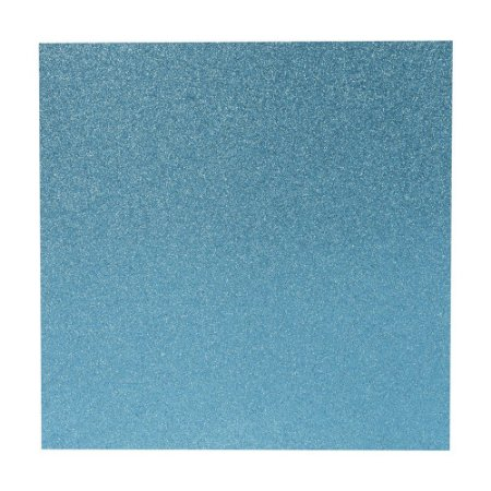 Papel Cardstock Scrapbook Glitter Azul Turquesa 5 Folhas