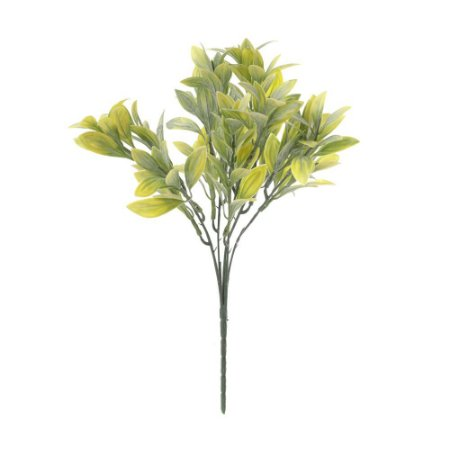 Buquê de Folha de Laranjeira Verde Claro Nevado 31 cm