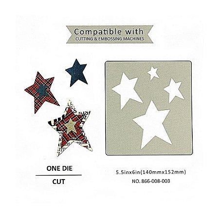 Placa de Corte em Metal Estrelas Sunlit