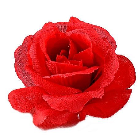 20 Unid. Botão de Rosa Colombiana Artificial sem Haste Vermelha 8 cm