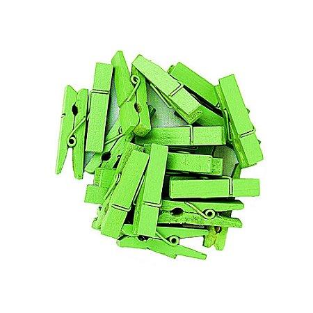 50 Unidades Mini Pregadores Verde 3,5 cm