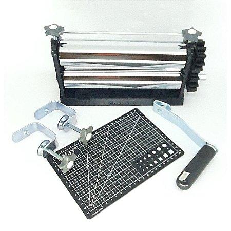 Kit 2 - Cilindro + Placa Base +  Placas de Textura Arabesco