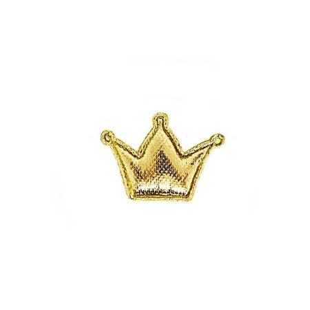 20 Unidades Mini Coroa em Tecido Metalizado Dourada