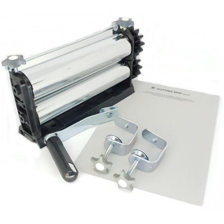 Kit 4 - Cilindro para Emboss + Placas Base + Facas De Corte + Placas Textura