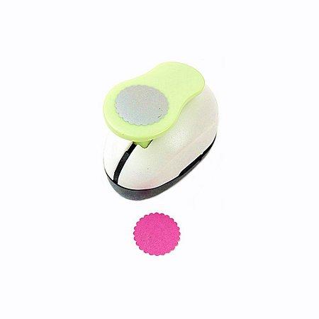 Furador para Papel e EVA 2,5 cm Círculo Escalopado Outlet