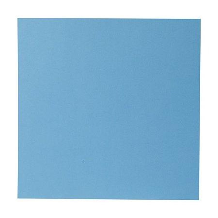 Kit Papel Cardstock Scrap Inverno Azul Turquesa 5 Folhas