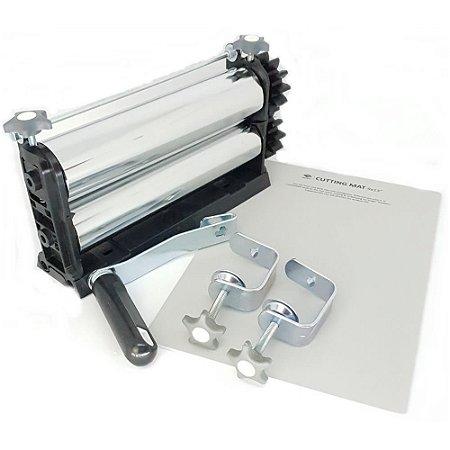 Kit 5 - Cilindro para Emboss + Placas Base + Facas De Corte + Placas Textura
