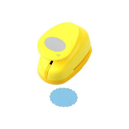 Furador para Papel 3,8 cm Oval Escalopado Outlet