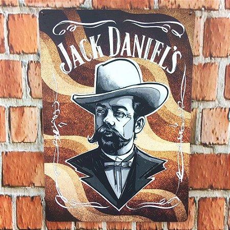 Placa em MDF 29 x 20 Jack Daniels Sr. Jack