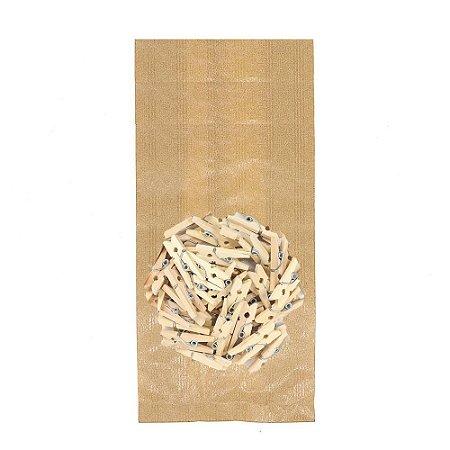 50 Unid. Saco Kraft M + Mini Pregador 2,5 cm