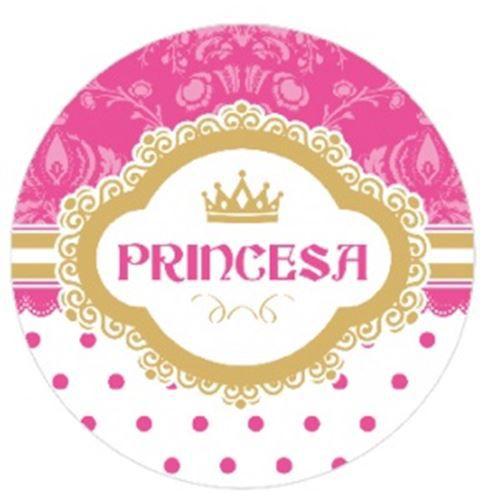 10 Unid. Etiqueta Adesiva Cromo Princesa 5 Cm