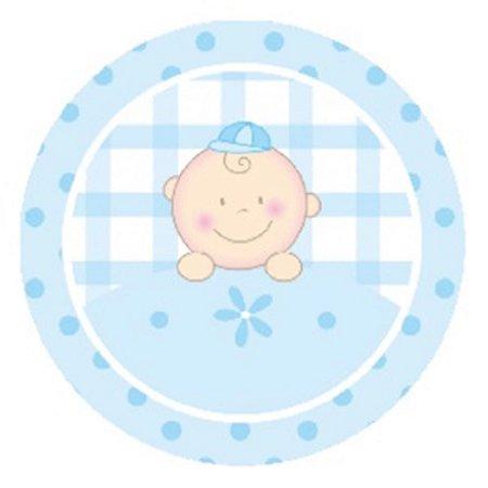 10 Unid. Etiqueta Adesiva Cromo Baby Menino 4 Cm