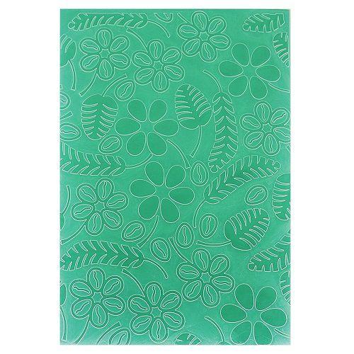 Placa de Textura Emboss 10,6 cm x 15 cm Flores e Samambaia